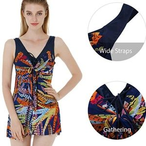 Women's Swimdress Flower Printed size 4/6